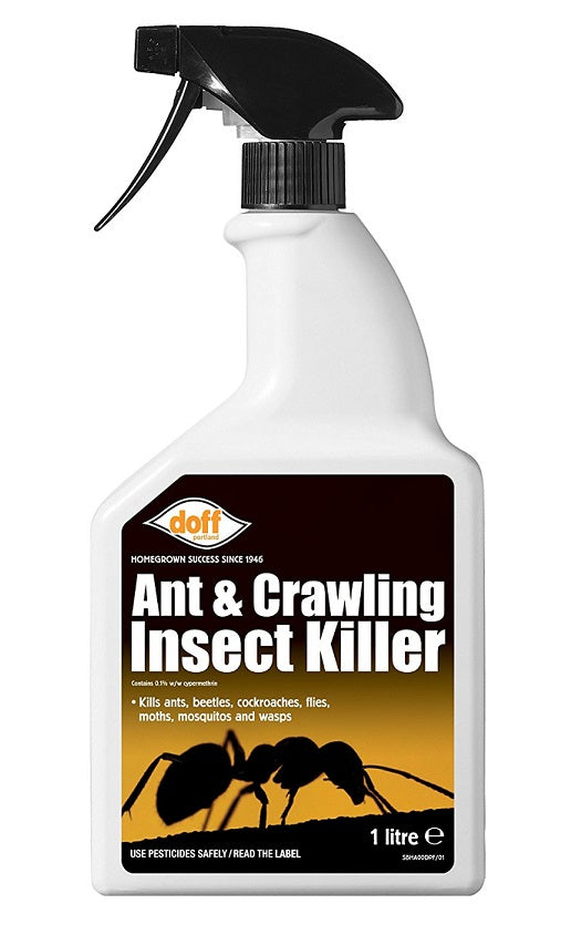 Doff Insect Killer Ant and Crawling Insects - 1 Litre Spray Bottle