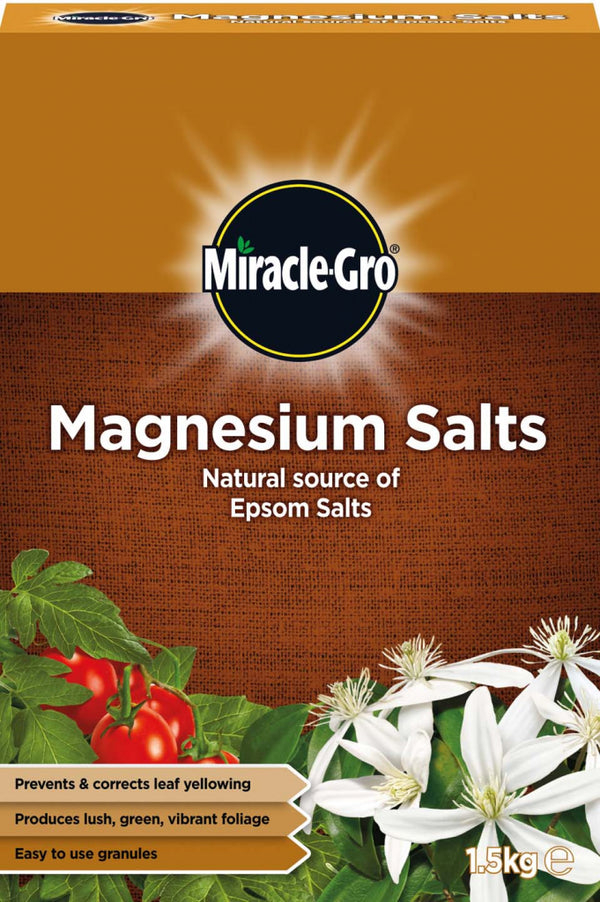 Miracle Gro Magnesium Salts 1.5 Kilo Ideal 4 Use On Tomatoes Lettuce & Brassicas