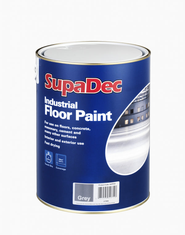 Industrial Floor Paint - 5L - Interior & Exterior - Tile Red / Slate Grey