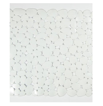 Blue Canyon Pebble Shower Mat White