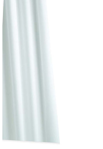 Croydex Professional Plain White Textile Shower Curtain - 1800 X 2000mm