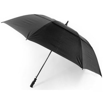 Vented Auto open Golf Umbrella - Black