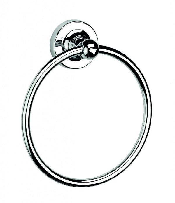 Croydex Wimbourne Bathroom Flexi-Fix Easy to Fit Towel Ring Chrome