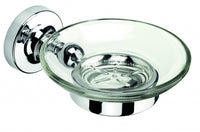 Croydex Wimbourne Bathroom Flexi-Fix Easy to Fit Soap Dish and Holder Chrome