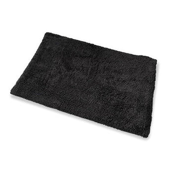Large Bath Mat - Black Colour - By Blue Canyon - 100% Cotton