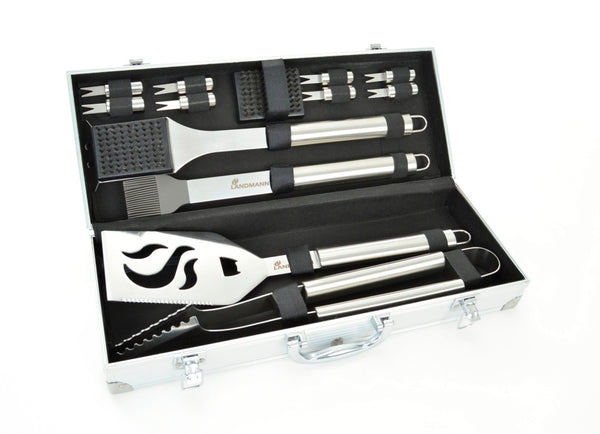 Landmann 13 peice Stainless Steel Tool Set with Carry Case