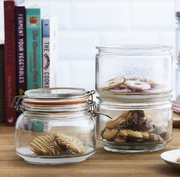 Kilner Stackable Storage Jar - Set of 3 Space Saving Glass Jars