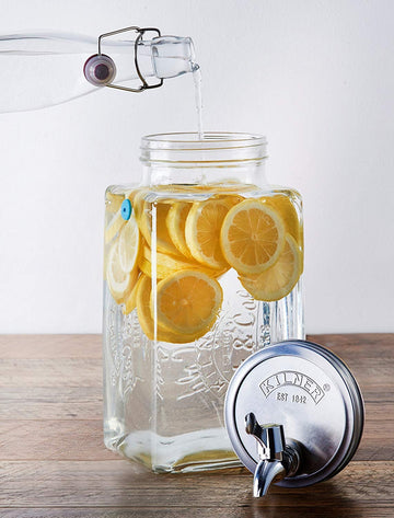 Kilner Glass Fridge Drinks Dispenser with Measuring Scale and Tap - 3 Litre