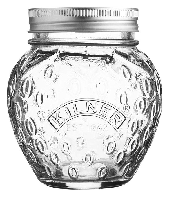 Kilner Fruit Shape Preserve Jar - Strawberry - 0.4 Litre