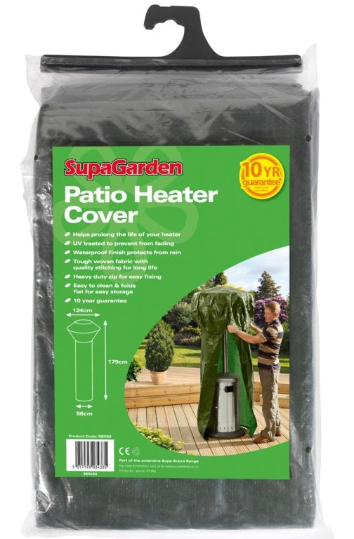 Supagarden Patio Heater Cover - Heavy Duty Zip For Easy Fixing - Easy To Clean