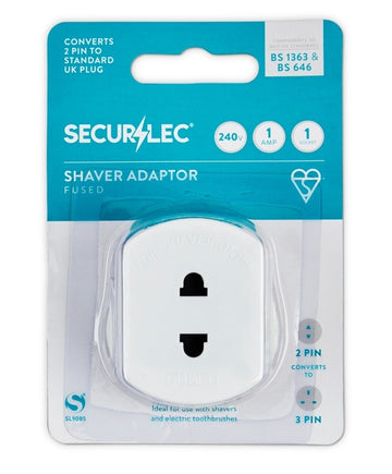 Shaver Adaptor UK Plug Adaptor Shaver Razor Toothbrush 1A to BS1363/3