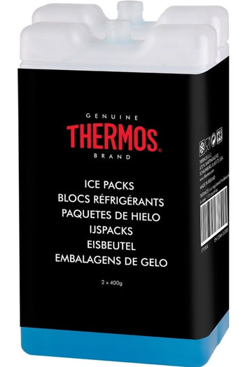 Thermos Ice Packs For Cool Boxes & Cool Bag - Pack of 2