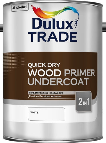 Dulux Trade Quick Dry Wood Primer Undercoat White 1L, 2.5L 7 5 Litres