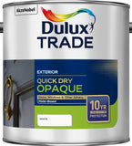Dulux Trade Weathershield Quick Dry Opaque Black / White ALL SIZES 5L / 2.5L / 1L