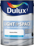 Dulux Retail Matt Light and Space Absolute White Paint 2.5 Litres / 5 Litres