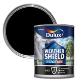 Dulux Weathershield One Coat Black Exterior Gloss Size 750ml / 2.5 Litres