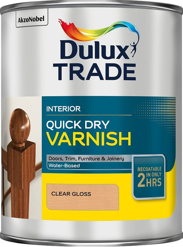 Dulux Trade QD Varnish Clear Gloss & Satin 1L / 2.5 Litres Tracked Postage
