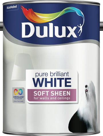 Dulux Retail Soft Sheen Paint - Pure Brilliant White - All Sizes