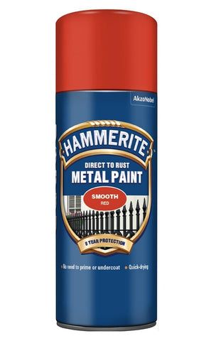 Hammerite - Direct To Rust Smooth - Aerosol Spray Paint - All Colours