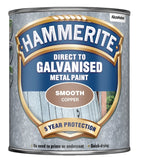 Hammerite - Direct To Galvanised Metal Paint - 750ML- All Colours