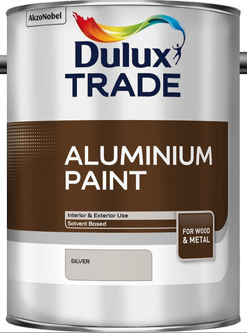 Dulux Trade Aluminium Paint Silver 2.5 Litres / 5 Litres Both Sizes Tracked Post
