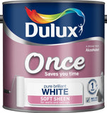 Dulux Retail Once Soft Sheen - Pure Brilliant White - All Sizes