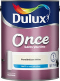 Dulux Retail Once Matt Paint - Pure Brilliant White - All Sizes