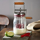 Kilner Butter Churner Learn How To Make Home Made Butter - Manual Glass Butter