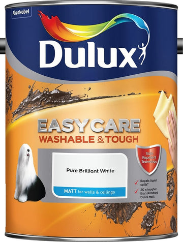 Dulux Retail Easycare Matt - Pure Brilliant White - All Sizes