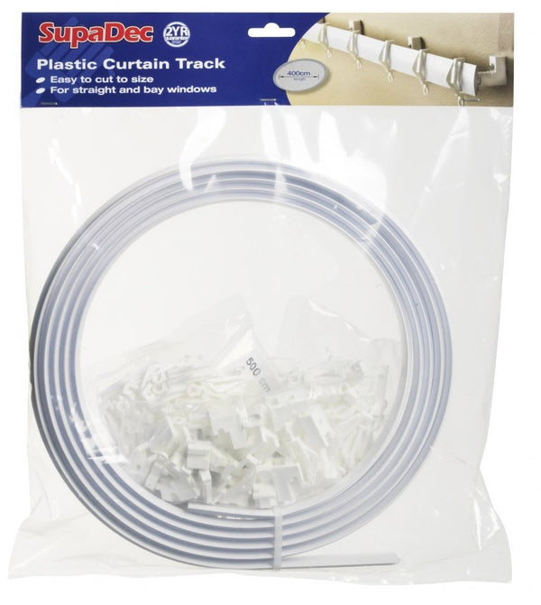 SupaDec Plastic Coil Curtain Track - Straight and Bay Windows - 4 Metres