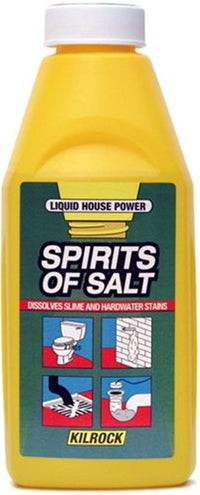 Kilrock Spirit of Salt 500ml Dissolves Slime and Hardwater Stains