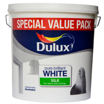 Dulux Retail Silk Paint - Pure Brilliant White - All Sizes