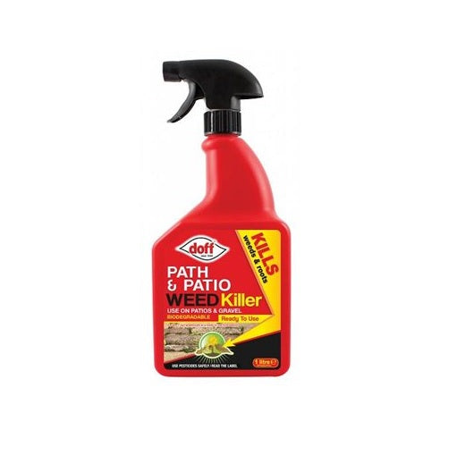 Driveway Weedkiller Garden Doff 'Knockdown' Systemic Path & Patio Weedkiller 1L