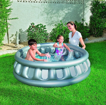 Bestway Spaceship Above Ground Childrens Paddling Pool - Grey