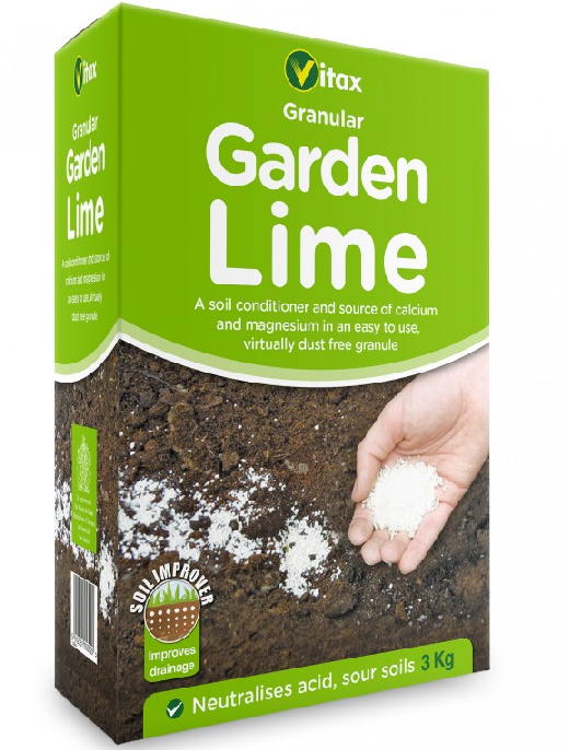 Vitax Granular Garden Lime - Soil Conditioner To Improve Drainage - 3kg