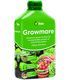 Vitax Liquid Growmore - Concentrated Liquid Fertiliser / Plant Feed - 1 Litre