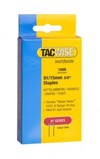 Tacwise Tacker Staples (91) 15mm For use in 191EL, Ranger 40 Duo