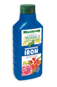 Maxicrop Plus Sequestered Iron - Natural Seaweed Extract Plus 2% Iron - 1L