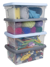 Wham Boxes And Lids - 3.5L - 4 Grey and Blue