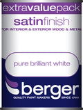 Berger Satin Easy Sheen Brilliant White Paint 1.25 litres