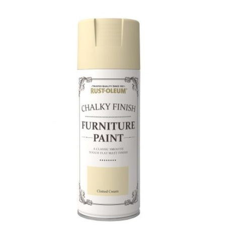 Rust-Oleum Chalk Chalky Furniture Paint 400ml Aerosol Chic Shabby Vintage Paints