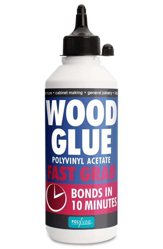 Polyvine fast grab wood glue Polyten 125ml 250ml *bonds in 10 minutes*