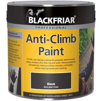 Blackfriar Anti-Climb Vandal Security Paint - Outdoor Semi-Matt Black