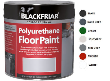 Blackfriar Polyurethane Floor Paint - Hard Wearing - Various Colours and Sizes