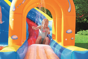 Hurricane Inflatable Bouncy Castle Water Park Pool, Slide, Gun, Climbing Wall
