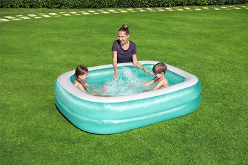 Bestway Summer Above Ground Blue Rectangular Family Paddling Pool - 201 x 150cm