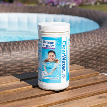 Clearwater Chlorine Granules for Swimming Pool and Spa Treatment - 1kg