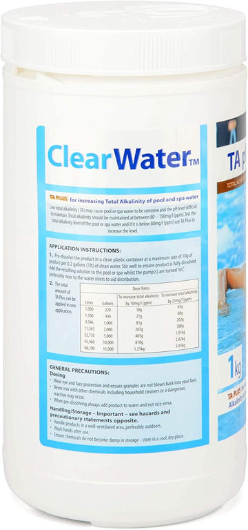 Clearwater TA Plus Alkalinity Increaser for Swimming Pool & Spa Treatment - 1kg