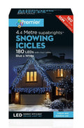 Indoor & Outdoor Icicles Christmas Blue & White 180 LED