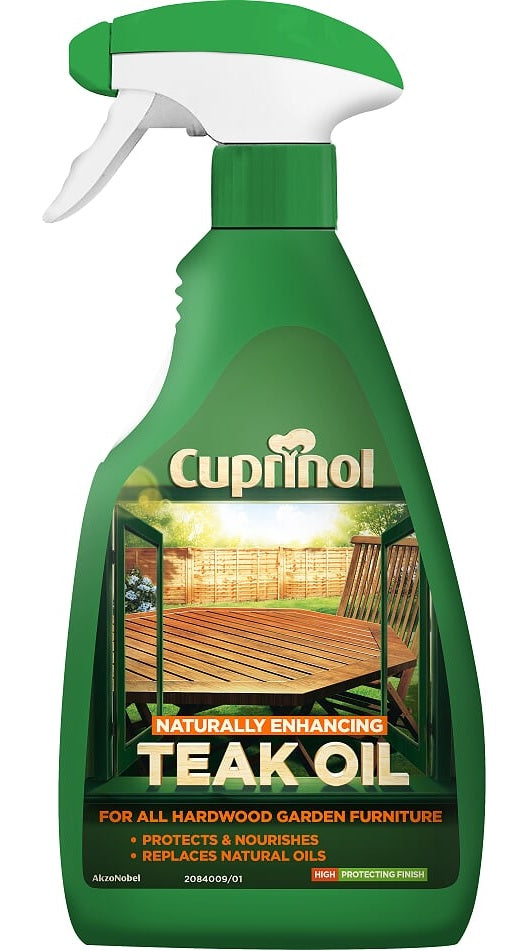 Cuprinol Garden Furniture Teak Oil - 500ml Trigger Spray